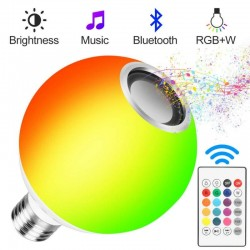 Intelligent lamp bulb - e27 - rgb - bluetooth speaker