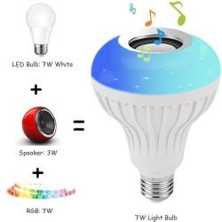 E27 - LED - RGB - Bluetooth Lautsprecher - Musikbirne mit Fernbedienung