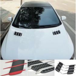 Gill de tiburón 3D - ventilación de flujo de aire lateral - pegatina de coche - 2 piezas