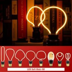 E27 - 220V - 240V - 3W - 4W - 4,5W - Vintage LED-Lampe - unregelmäßiges Design