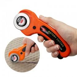 45mm - obrotowe narzędzie do cięcia skóry / tkanin - ostrze okrągłe