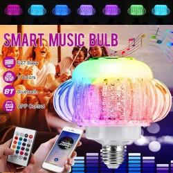 E27 - Bombilla LED RGB con altavoz inalámbrico Bluetooth - control remoto - 110V-220V 6W
