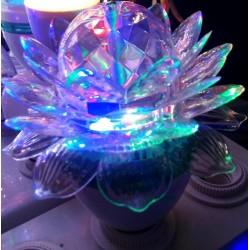 3W - E27 - kryształowa żarówka LED - kwiat lotosu