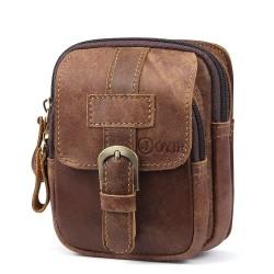 Mini waist bag - genuine leather