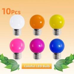 E27 3W AC 220V SMD 2835 - bombilla LED RGB de colores - 10 piezas