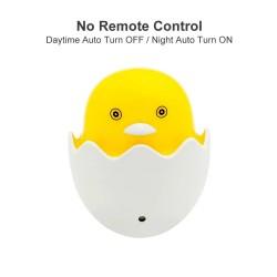 Yellow duck - LED night light - EU wall plug - control sensor - dimmable - remote controller