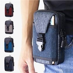 Kleine Hüfttasche - Segeltuchtasche mit Reißverschluss