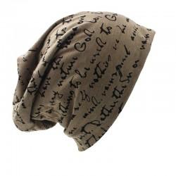 Bonnet chaud - chapeau unisexe - lettres et étoiles