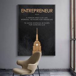 ENTREPRENEUR - Motivationszitat - Poster - Leinwand Wandbild
