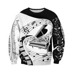 Musiknoten - Pullover - Hoodie - Reißverschluss