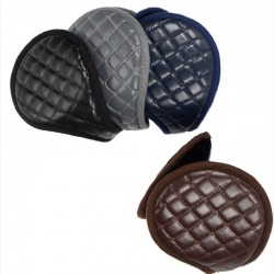 Leather & plush - earmuffs - foldable