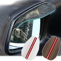 Espejo retrovisor de coche - espejo lateral - visera de lluvia - adhesivo - 2 piezas