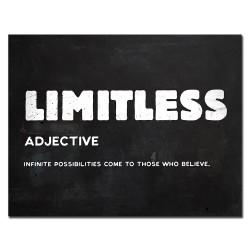 LIMITLESS - citation inspirante - affiche murale - toile