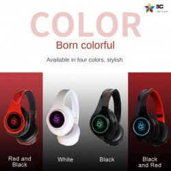 B39 - LED - Bluetooth wireless headphones - headset with microphone