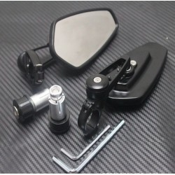 Universal Motorcycle Aluminium Bar End Mirrors