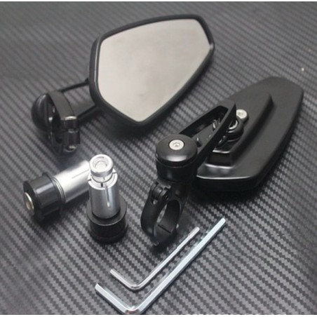 Universal aluminum motorcycle bar-end mirrors