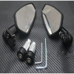 Universeel aluminium Bar End motorspiegels - 2 stuks