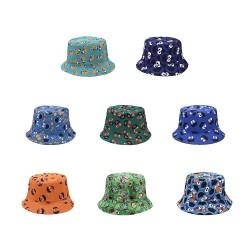 Vintage - printed fishing hat - reversible - unisex