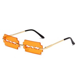 Vintage Metall Sonnenbrille - UV400 - Rasierklingenform