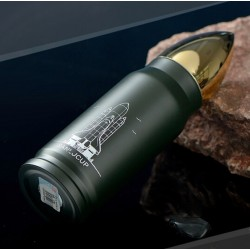 Space shuttle thermos flask - bottle - stainless steel - 350ml