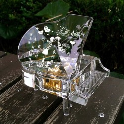 Crystal piano - music box