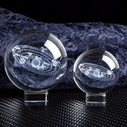 Solarfiguren - 3D-Planetenmodell - Kristallkugel - Schreibtischdekoration
