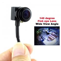 700TVL - 140 Grad - Weitwinkel - Fischaugenobjektiv - Mini-Überwachungskamera / Video