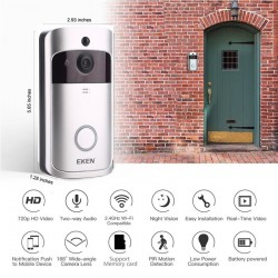 V5 Smart WiFi Video doorbell - visual intercom with chime - night vision - door bell - security camera