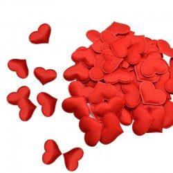 Satin Herzen Blütenblätter - Konfetti - Hochzeiten / Tische / Betten / Valentinstag Dekoration - 100 Stück - 35mm