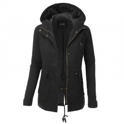 Warm hooded jacket - women