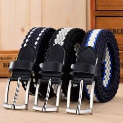 Geflochtener elastischer Gürtel - Leder - Unisex