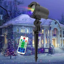 Bewegliche statische rote / grüne / blaue Punkte / Sterne - Weihnachtslaserlicht - Projektor - wasserdicht