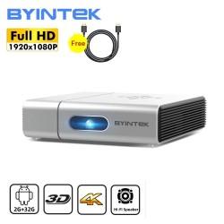 BYINTEK U50 / U50 Pro - Full HD - 1080P - 2K 3D 4K - Android - Wifi - LED DLP Miniprojektor