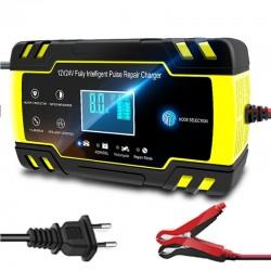Autobatterieladegerät - vollautomatisch - digitales LCD - 12V-24V - 8A