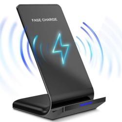 10W / 15W - kabelloses Ladegerät - Schnellladung - Ständer für iPhone / Samsung