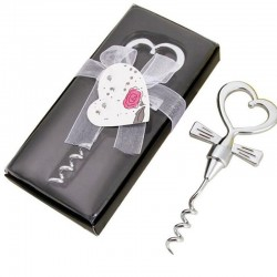 Wine bottle opener - corkscrew - heart shaped handle