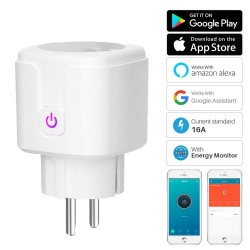 WiFi smart plug socket - 16A - EU plug - google assistant