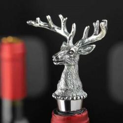 Hirschkopf - Weinflaschenverschluss - Zinklegierung