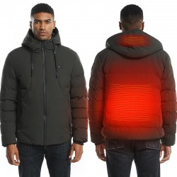 USB - electric heated thermal jacket with hood / zippers