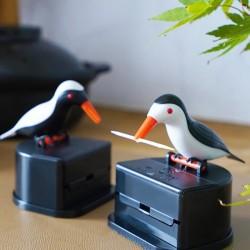 Automatischer Zahnstocherbehälter - bunter Vogel