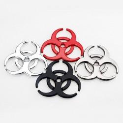 3D Biohazard - Metallemblem - Autoaufkleber