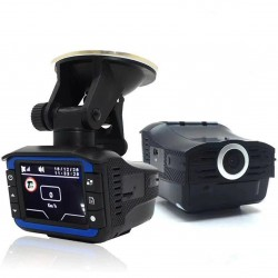 2 In 1 anti laser car radar detector G-sensor DVR camera recorder 140 degree lens HD 720P