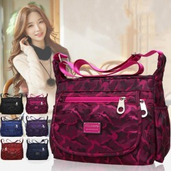 Elegant nylon shoulder bag - handbag