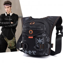 Petit sac jambe / taille / épaule - nylon imperméable - unisexe
