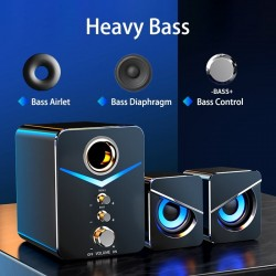 Computer speaker set - bluetooth 5.0 - stereo sound - bass