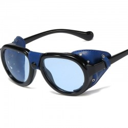 Leather steampunk sunglasses - UV400 - unisex