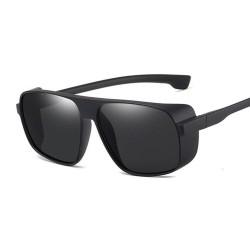 Retro / Steampunk Sonnenbrille - mit Seitenschutz - UV400 - Unisex