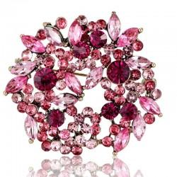 Bridal flower brooch - crystal brooch pins