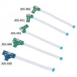 PlayStation 4 controller - USB charging port socket - circuit board - 12Pin - JDS 011 - 030 - 040 - 055