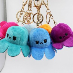 Reversible octopus keyring - two colors